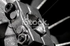 Closeup of a metal fan for electric motors cooling Royalty Free Stock Photo