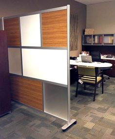 6' Screen with Wood Laminate, Translucent & Solid Solid color panels