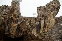 The temple of condors inside Machu Picchu