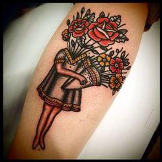 Floral Surrealism Tattoo