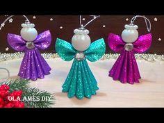 Foam Christmas Ornaments, Christmas Angel Crafts, Christmas Origami, Christmas Angels, Christmas Projects, Easter Crafts, Christmas Crafts, Diy Diwali Decorations, Handmade Decorations