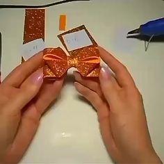 Diy Baby Headbands, Diy Hair Bows, Making Hair Bows, Diy Bow, Diy Headband, Diy Ribbon, Ribbon Crafts, Felt Crafts, Kanzashi Tutorial
