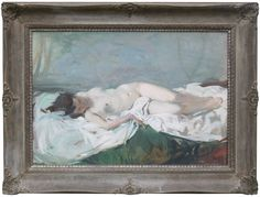 """Cosimo Privato - """"The white sheet"""" - x (without frame) Important Venetian painter - 1930 - On sale at Antiques Missaglia - Padua - Italy Venetian Painters, Padua Italy, Italian Paintings, Antiques, Frame, Antiquities, Frames, Antique, A Frame"""