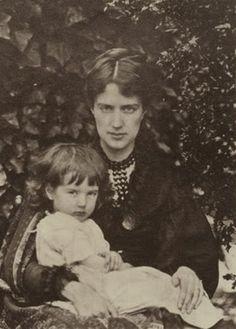 Pre-Raphaelite artist Maria Spartali Stillman with her son, Michael, photo by julia Margaret Cameron