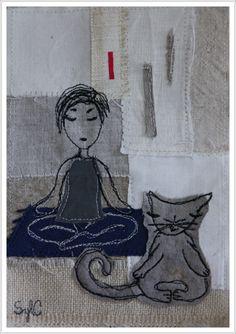 collage textile et piqué libre