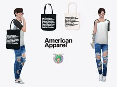 Sims 4 CC's - The Best: American Apparel Bags by Twinksimstress