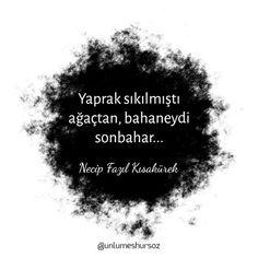 #sözler #NecipFazılKısakürek  - corek-otu-yagi.com True Quotes, Book Quotes, Words Quotes, Sayings, Deep Words, True Words, Beautiful Mind Quotes, Good Sentences, Weird Dreams