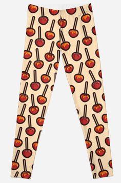 19d9cc7bafe85c Caramelized Apples Leggings by Anastasia Shemetova  caramel  dessert  sugar   autumn  fall.