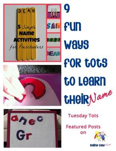 fun ways to learn | fun ways to tots to learn their name perfect for ... | For the Ki...