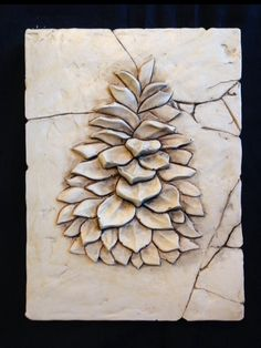 From the MUSKOKA collection, the pine cone done in earth tones. Cottage