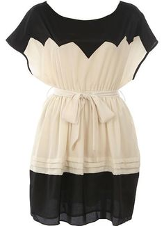 Belted Zig-Zag Dress via Rickety Rack >> What a great dress for any event!