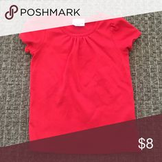 T shirt Reddish orange colored Pima tee Hanna Andersson Shirts & Tops Tees - Short Sleeve