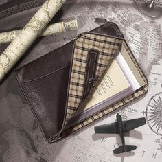 The Bomber Jacket Briefolio. A leather portfolio-style small men's briefcase - by Levenger.