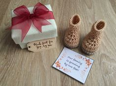 Pregnancy Announcement Gift, Pregnancy Reveal to Grandparents, Gender Reveal…