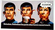 Star Trek  Spock in Heineken Promo Poster Ad . . . by AncientArt