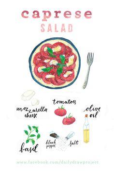 caprese salad www.facebook.com/dailydrawproject