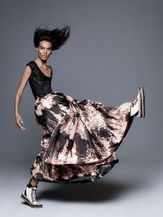 Liya Kebede Goes Exhuberant In 'Hustle Bustle' By David Sims For Vogue US September2015 - 3 Sensual Fashion Editorials | Art Exhibits - Women's Fashion & Lifestyle News From Anne of Carversville