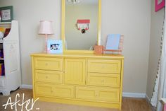 Southern Lovely: Furniture {re-do} - Yellow dresser