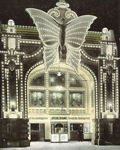 The Butterfly Theatre in Milwaukee, Wisconsin, was opened in 1911 and given this facade in 1916.