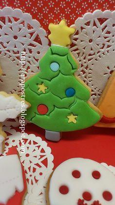 Galletas fondant de Navidad #arapostres #galletasmantequilla