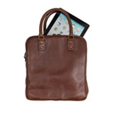 Brown Leather Minor Briefcase. With multiple compartments for easy accessibility and a removable shoulder strap, this stylish briefcase is useful for people on the go. Its vertical silhouette gives off an European air, making it worldly and appealing. $560.00