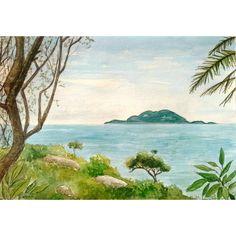 Detalhes de Florianópolis - aquarela e nanquim. Dimensões: 14,5 cm x 21 cm////Florianópolis details - watercolor and nankin. Dimensions: 14,5 cm x 21 cm////#desenho #aquarela #nanquim #praia #Florianópolis #tropical #drawing #watercolor #nankin #beach