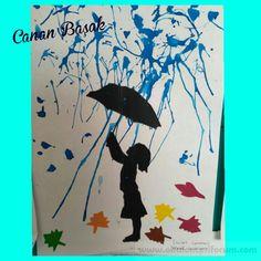 """Üfleme çalışması """"yağmur"""" - Okul Öncesi Etkinlik Kaynağınız"""