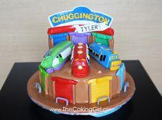 The Caking Girl: Chuggington Cake! Wilson, Brewster and Koko! Chuggington Cake, Chuggington Birthday, Wilton Cakes, Fondant Cakes, Cupcake Cakes, Childrens Cupcakes, Cool Birthday Cakes, Birthday Ideas, Couture Cakes