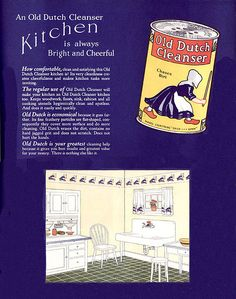 1924 Ad for Old Dutch Cleanser by American Vintage Home, via Flickr