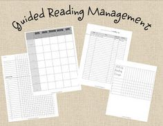 Classroom Freebies: Guided Reading Organization Forms
