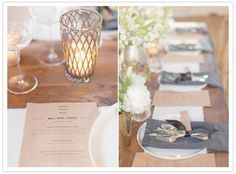 Wood, grey and white. Rustic modern wedding inspiration