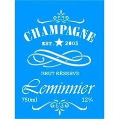 Stencil Rótulo Champagne 15x20 - OPA