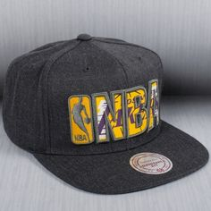 f3bf9f8effe Mitchell   Ness NBA Los Angeles Lakers Insider Reflective Snapback Cap