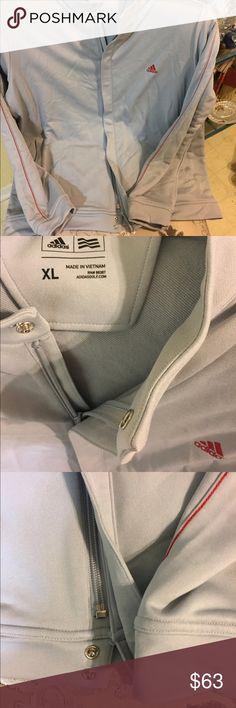 NWOT'S Adidas golf grey zip jacket Never worn, very nice jacket. Long sleeve with zipper and snaps at bottom. Adidas Jackets & Coats Performance Jackets