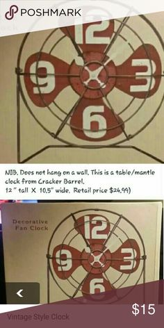 Vintage Style Clock NEW from Cracker Barrel See 2nd pic for more info Other