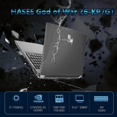 "HASEE God of War Z6-KP7GT Laptop Notebook PC 15.6"" 1920*1080 HD Sales Online - Tomtop.com"