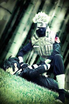 Kakashi and Sasuke cosplay - Naruto