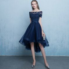 Homecoming Dresses UK,Buy Dark Blue Lace Tulle Short Sleeve High Low Round Neck A-Line Short Knee Length Prom Dresses uk on PromDress. Short Prom Dresses Uk, Dark Blue Prom Dresses, High Low Evening Dresses, Pink Evening Dress, Dark Blue Gown, Tulle Bridesmaid Dress, Dress Prom, Schneider, Lace Dress