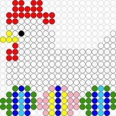 Kralenplank Kip op eieren