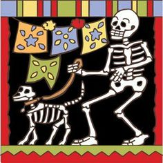 6x6 Tile Day of the Dead Walking the Dog by Hand-N-Hand Designs. $18.95. Individually screen printed on authentic Italian Red Quarry Tile. Fired at over 1800 degrees to create a durable and lasting piece of art. Unique hand drawn design exclusive to Hand-N-Hand Designs. Each tile is hand glazed by a skilled artist in the USA. This 6x6 decorative art tile is hand painted and hard fired at over 1800 degrees making it ready for years of use indoors or outdoors. Use this tile as a t...