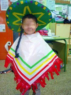 Mimos de Infância: Os mais originais disfarces de Carnaval reciclados Mexican Fancy Dress, Mexican Outfit, Mexican Costume, Mexican Party, Carnival Costumes, Halloween Costumes, Christmas Program, Fiesta Party, Art For Kids