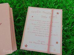 twinkle twinkle little-προσκλητήριο βάπτισης/γενεθλίων Twinkle Twinkle Little Star, Birthday Ideas, Sugar, Invitations, Pearls, Save The Date Invitations, Beads, Pearl, Pearl Beads