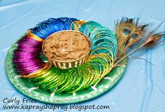 Mehndi thaal - peacock theme