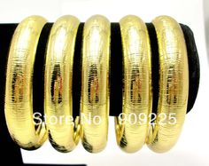 Wholesale Fashion 18K Gold Plated Wide Plain Metal Bangles. DIY Bracelet Accessories for Stacking Bangle Set. Indian Jewelry $3.00