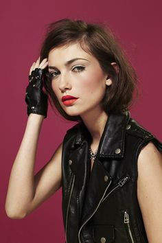 Youth Revolt Moto Vest, Dark Dancer Tulle Dress, Crystal Collar Necklace, Hot Rod Gloves