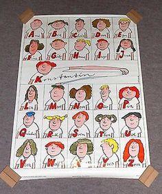 DDR-Plakat-Poster-Nicki-Alphabet-ABC-Namen-Manfred-Bofinger-1984-81-x-57-5