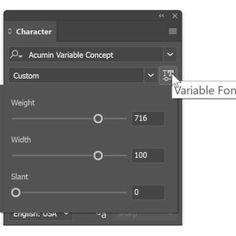 Variable Fonts im neuen Illustrator