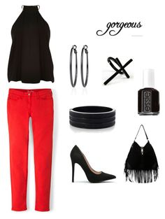 Red and Black Ensemble by dannyzoe on Polyvore featuring Boden, River Island, White House Black Market, Oasis, Emi Jewellery and Essie