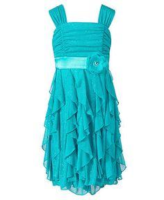 Sequin Hearts Girls Dress, Girls Corkscrew Dress - Kids Girls 7-16 - Macy's