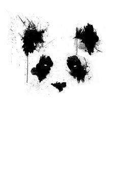 Items similar to Panda by Roland Molnar on Etsy Buy this cool and limited giclée print or canvas from Falra … Niedlicher Panda, Panda Art, Panda Love, Cute Panda, Tatto Panda, Panda Tattoos, Arte Dope, Bear Drawing, Bild Tattoos